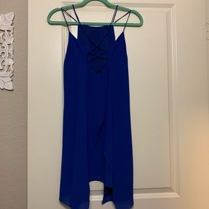 royal blue boutique dress